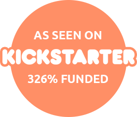 As seen on kickstarter - 325% funded!